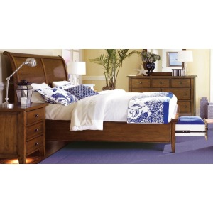Cross Country King Sleigh Bed with Storage Footboard