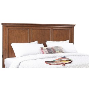 Oxford Whiskey Brown Queen Panel Headboard