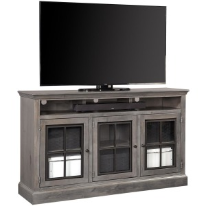 "Churchill Ghost Black 66"" Highboy Console w/ 3 Doors"