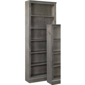 """Churchill 84"""" Bookcase w/ 5 fixed shelves - Smokey Grey"""