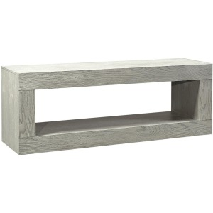 "Nova Oak Heather Gray 84"" Open Console"