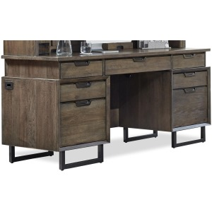 "Harper Point Fossil 66"" Credenza Desk"