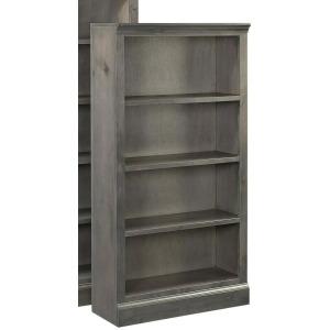 """Churchill 60"""" Bookcase w/ 3 fixed shelves - Smokey Grey"""