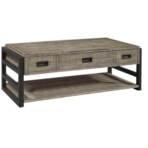 Grayson Lift Top Cocktail Table - Cinder Grey
