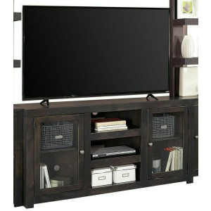 """Avery 65"""" Console w/ 2 Doors - Ghost Black"""