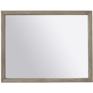 Platinum Landscape Mirror - Grey Linen