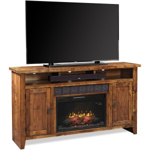 "Alder Grove 63"" Fireplace Console - Fruitwood"