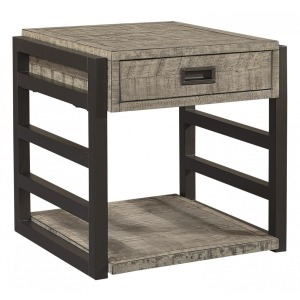 Grayson End Table - Cinder Grey
