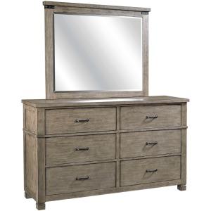 Tucker Stone Dresser & Mirror