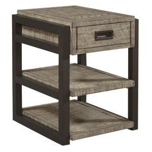 Grayson Chairside Table - Cinder Grey