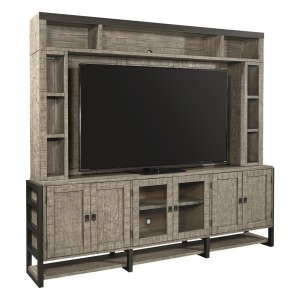 "Grayson 96"" TV Console & Hutch - Cinder Grey"