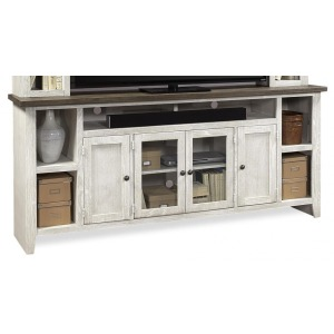 "Eastport Drifted White 84"" Console"