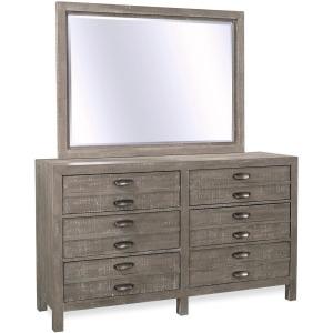 Radiata River Rock Six Drawer Dresser & Mirror