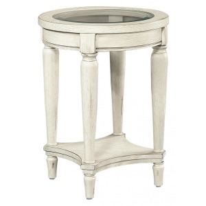 Radius Round Chairside Table - Alabaster