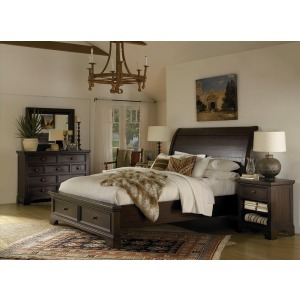 King/Cal King Sleigh Bed Headboard