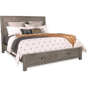 Radiata River Rock Queen Sleigh Storage Bed