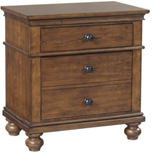 Oxford Whiskey Brown 2 Drawer Nightstand