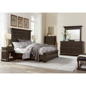 Foxhill Truffle Estate King Panel Bed