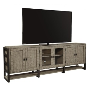 "Grayson 96"" TV Console - Cinder Grey"