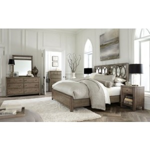 King/Cal King Mirrored Panel Headboard