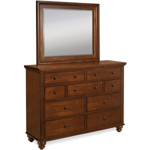 Cambridge Brown Cherry Chesser & Mirror