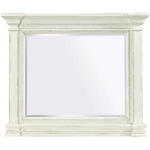 Granville Vintage White Landscape Mirror