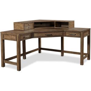 Terrace Point Corner Desk w/ Hutch
