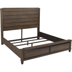Easton Burnt Umber Queen Panel Bed