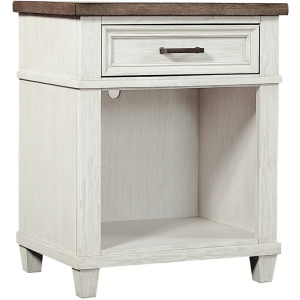 Caraway Aged Ivory 1 Drawer Nightstand
