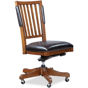 Hawthorne Carmel Brown Chair- w/o Arm, PU Seat