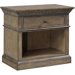 Belle Maison Light Aged Oak 1 Drawer Nightstand