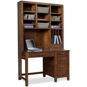 "50"" Pedestal Desk & Hutch"