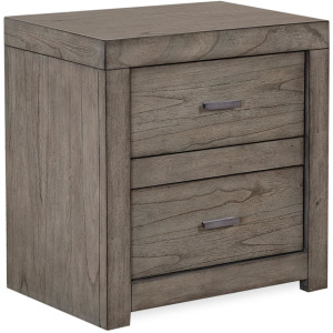 Modern Loft Greystone 2 Drawer Nightstand w/ power
