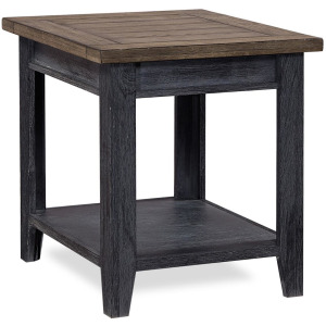 Eastport Drifted Black End Table