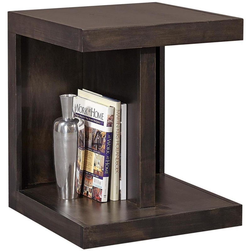 Ghost Black End Table