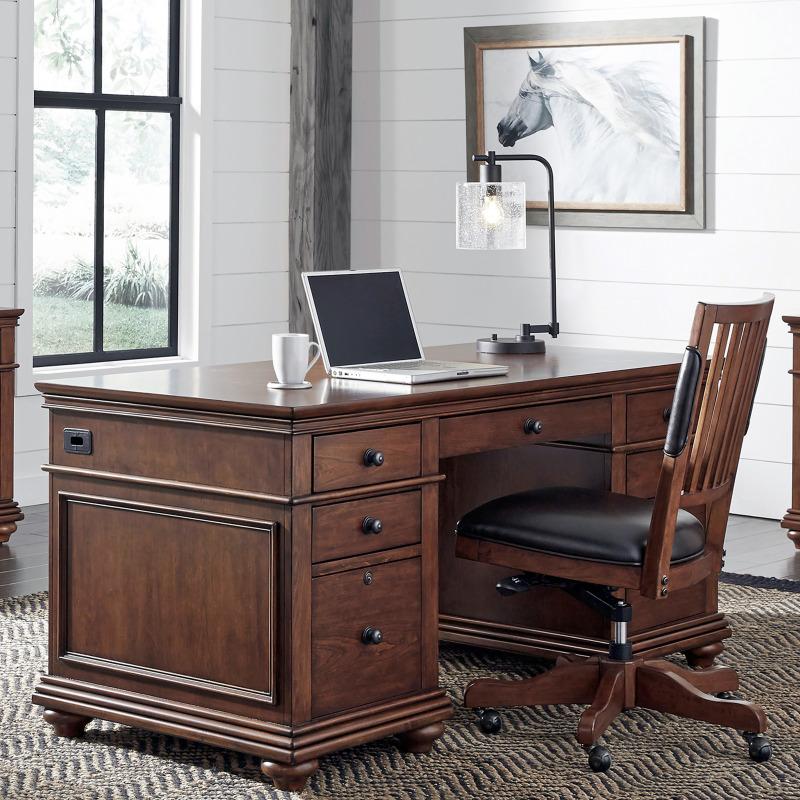 "Whiskey Brown 66"" Executive Desk"