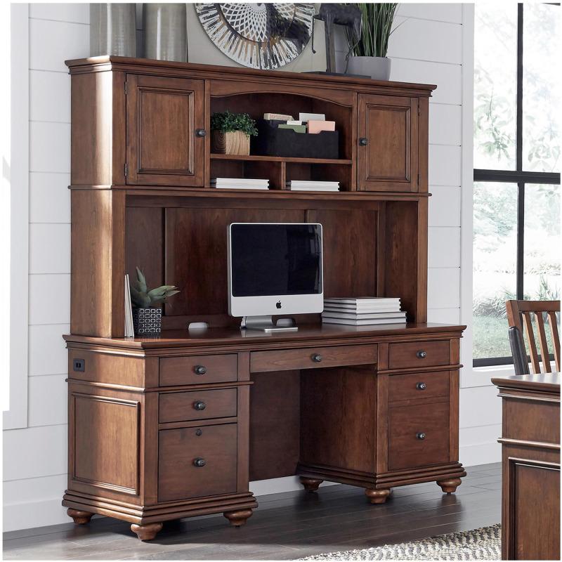 """66"""" Credenza Desk & Hutch"""