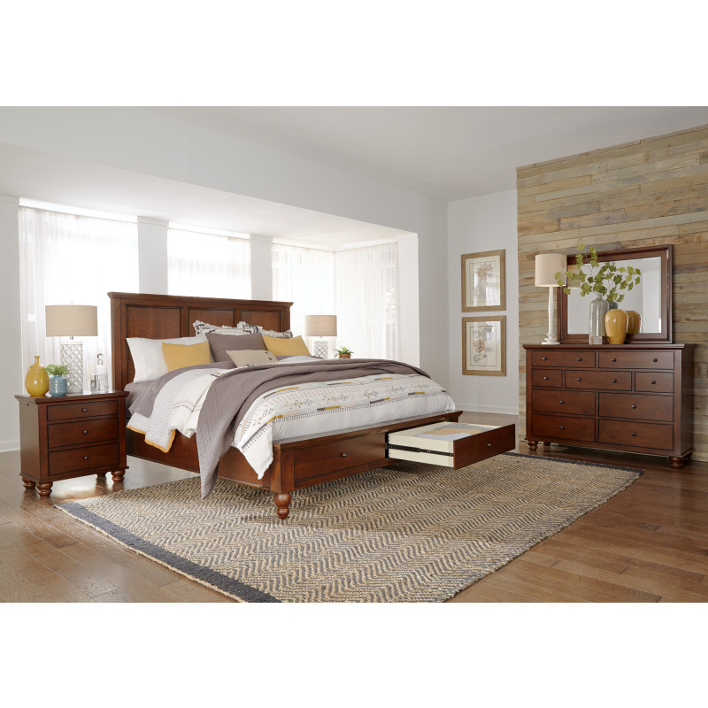 Brown Cherry Liv360 Nightstand