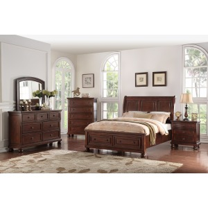 Sophia 3PC Queen Bedroom Set -Cherry