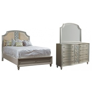 Regency Park 3 PC Queen Bedroom Set - Silver