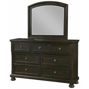 Dresser with Hidden Drawer and Mirror
