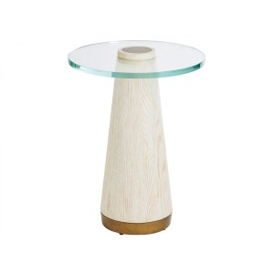 Carmel Castlewood Glass Top Accent Table