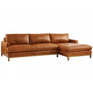 Horizon 2 PC Leather Sofa Chaise