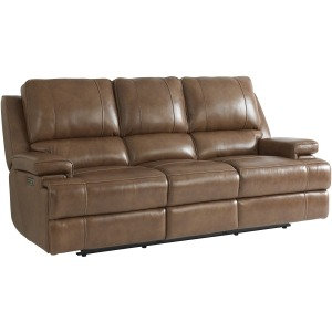 Parker Power Reclining Sofa - Umber