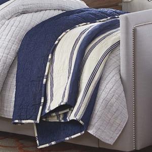 Camden Blue Stripe Quilt