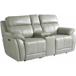 Levitate Motion Loveseat w/Power & Console - Nickle