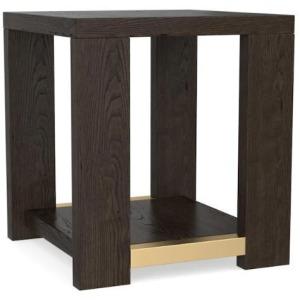 Modern Corso Side Table - Lyon Brown / Brass