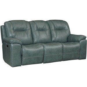 Chandler Motion Sofa with Power Headrest - Blue Gray