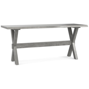 "Bench*Made Maple Crossbuck 70"" Live Edge Desk -Weathered Barn"