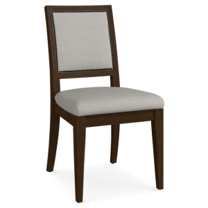 Custom Dining Square X-Back Upholstered Side Chair